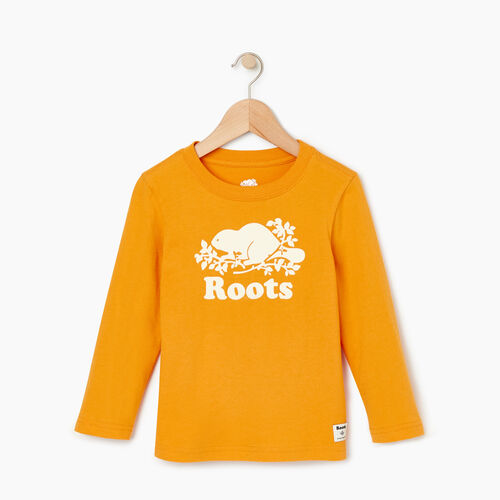 Roots-Kids T-shirts-Toddler Original Cooper Beaver T-shirt-Squash Yellow-A