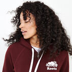Roots-Women Categories-Original Full Zip Hoody-Crimson-E