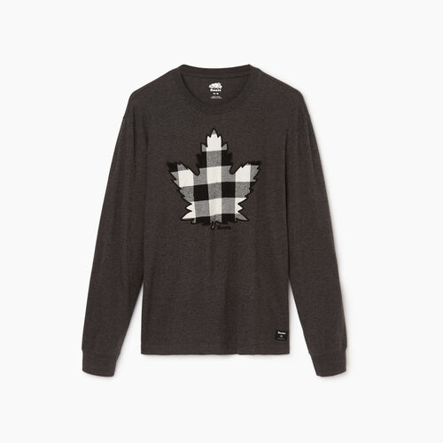 Roots-Men Our Favourite New Arrivals-Mens Canuck Plaid Pepper Longsleeve-Black Pepper-A