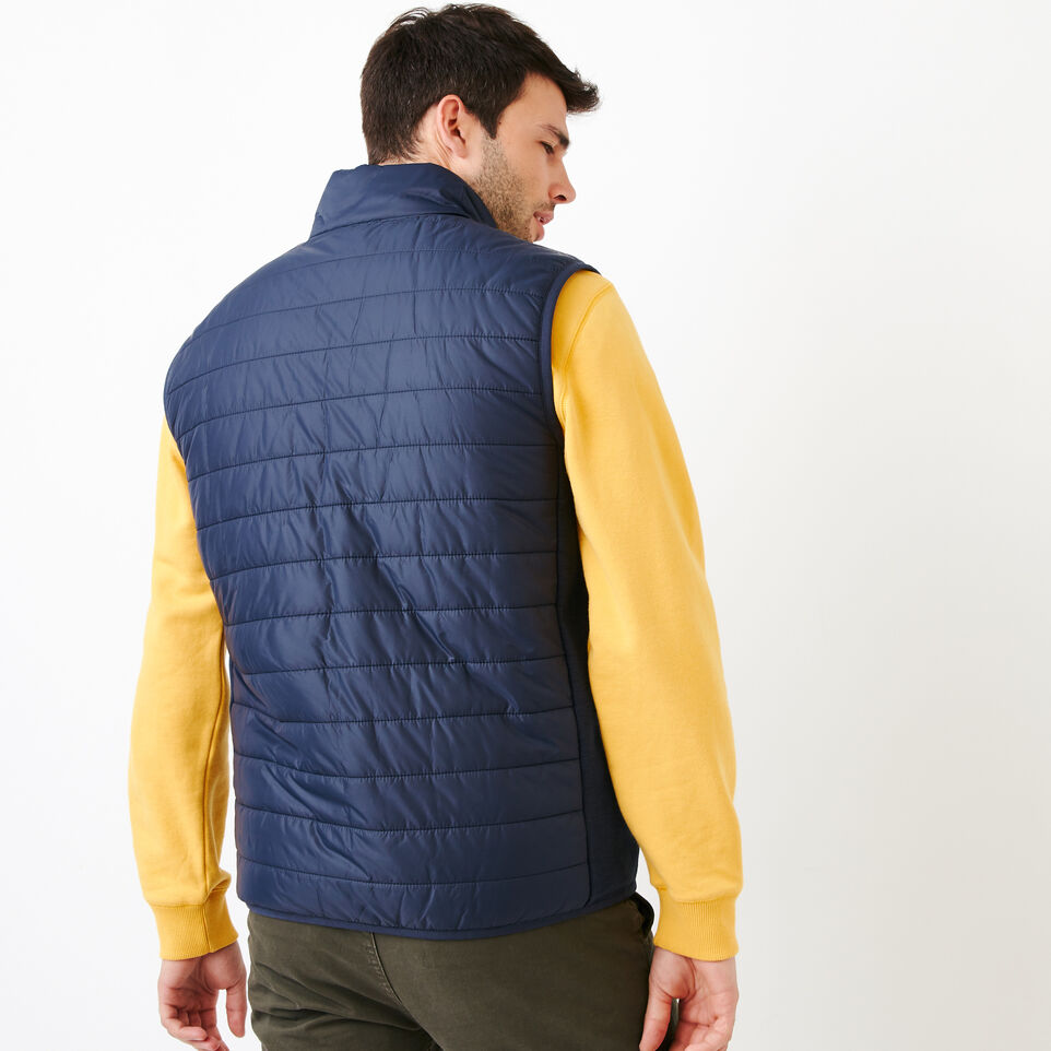 Roots-Men Categories-Roots Hybrid Vest-Navy Blazer-D