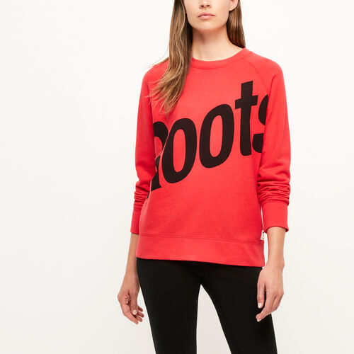 Roots-Women Bestsellers-Cameron Crew Sweatshirt-Lollipop-A