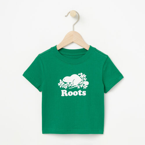 Roots-Sale Baby-Baby Cooper Beaver T-shirt-Verdant Green-A