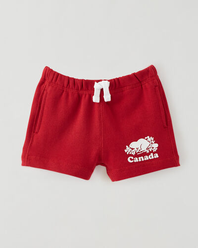 Roots-Shorts Baby-Baby Canada Short-Sage Red-A