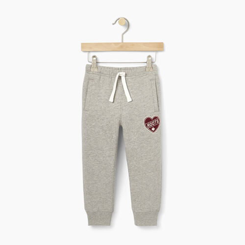 Roots-Kids Toddler Girls-Toddler Roots Patches Sweatpant-Grey Mix-A
