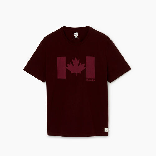 Roots-Men Graphic T-shirts-Mens Original Canada Flag T-shirt-Crimson Mix-A