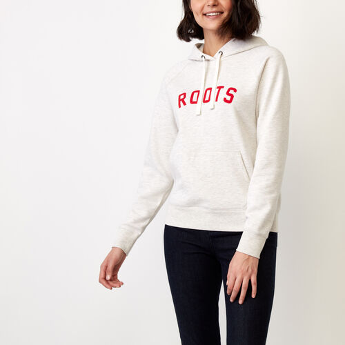 Roots-Winter Sale Sweats-Anniversary Hoody-White Grey Mix-A