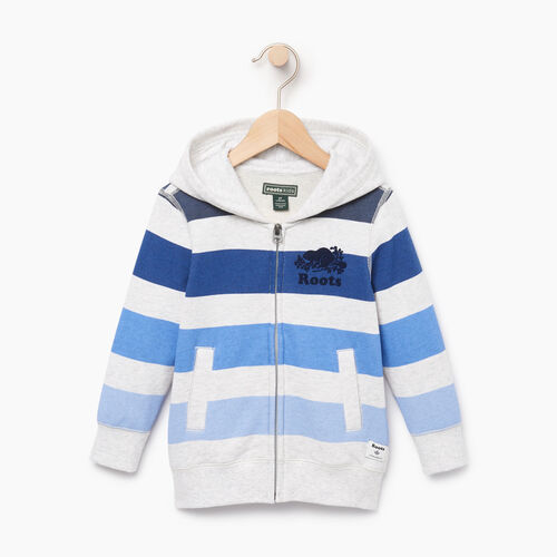 Roots-Kids Toddler Boys-Toddler Ombre Stripe Full Zip Hoody-White Mix-A
