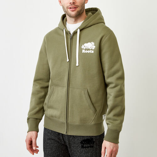 Roots-Men Bestsellers-Original Full Zip Hoody-Lichen-A