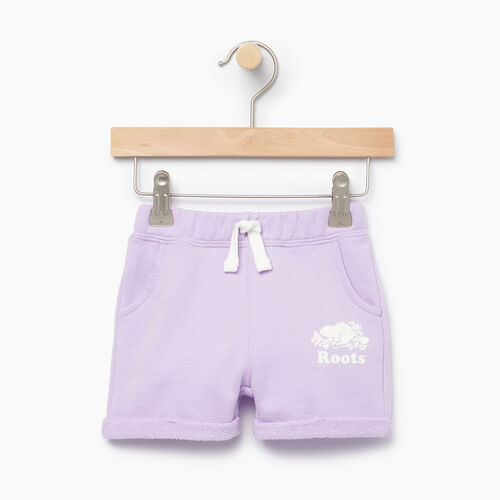 Roots-Kids Bottoms-Baby Roots Beach Short-Lavendula-A