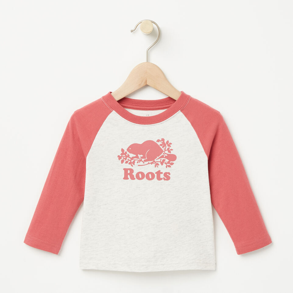 Roots-undefined-Baby Contrast Cooper Beaver T-shirt-undefined-A