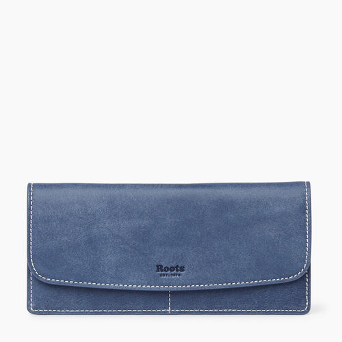 Roots-Leather Collections-Liberty Wallet Tribe-Denim Blue-A