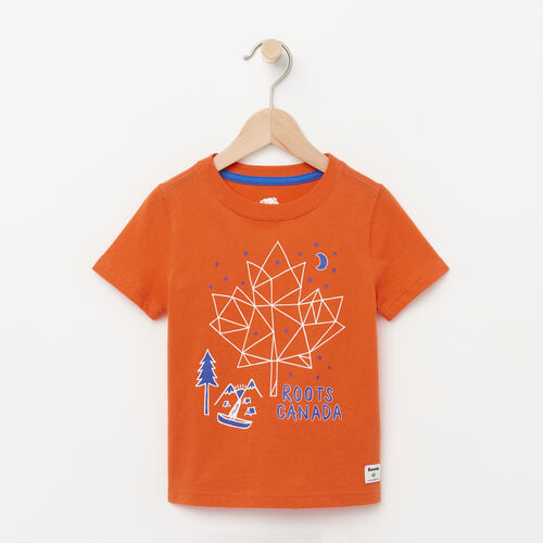 Roots-Kids Toddler Boys-Toddler Camp Canada T-shirt-Maple Orange-A