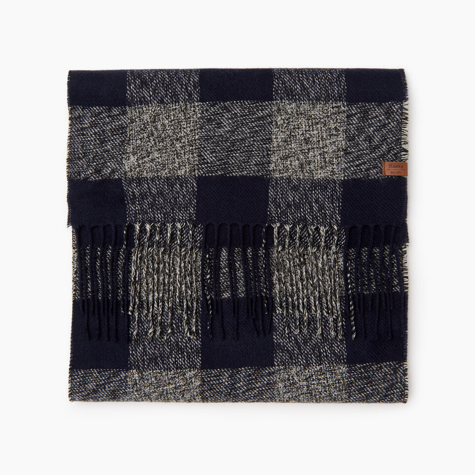 Roots-New For December Today Only: 40% Off Park Plaid Collection-Roots Park Plaid Scarf-Navy-B