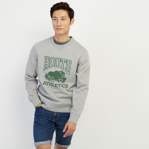 Roots-New For February Rba Collection-RBA Crew Sweatshirt-Grey Mix-A