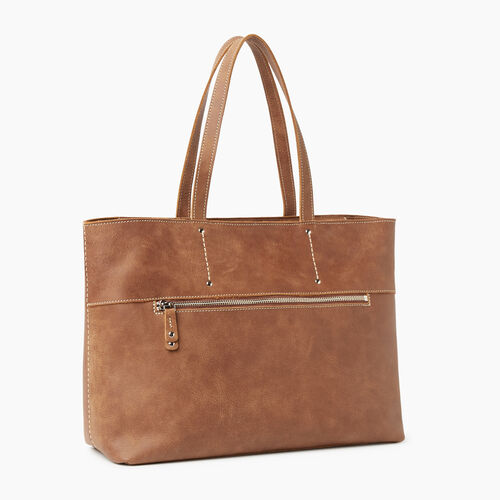 Roots-Leather Handbags-Westmount Tote Tribe-Natural-A