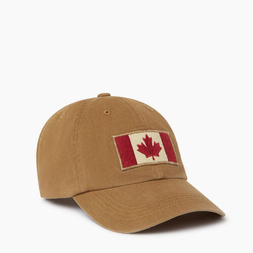 Roots-Men Our Favourite New Arrivals-Vintage Flag Baseball Cap-Tan-A