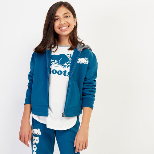 Roots-Sweats Sweatsuit Sets-Girls Remix Full Zip Hoody-Moroccan Blue-A