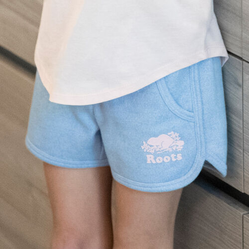 Roots-Kids New Arrivals-Girls Pepper Dolphin Short-Bonita Blue Pepper-A