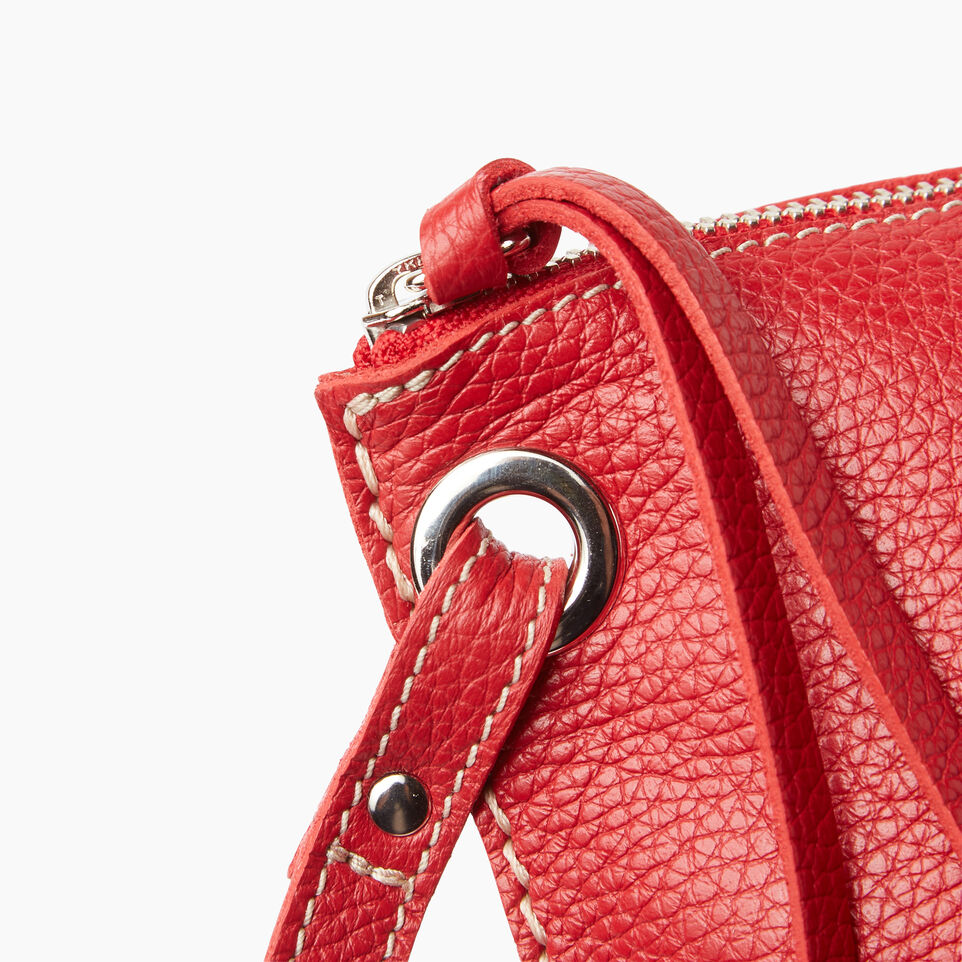 Roots-Leather  Handcrafted By Us Our Favourite New Arrivals-Festival Bag-Red-E