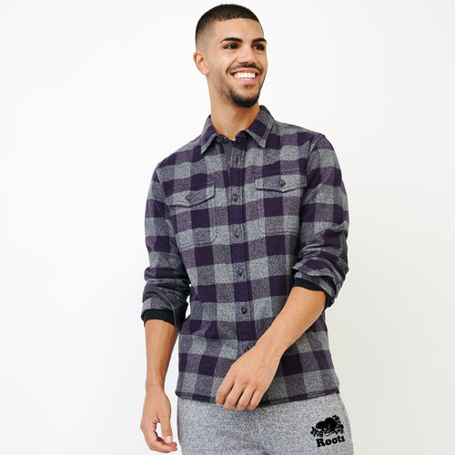 Roots-Men Our Favourite New Arrivals-Park Plaid Shirt-Night Shade-A