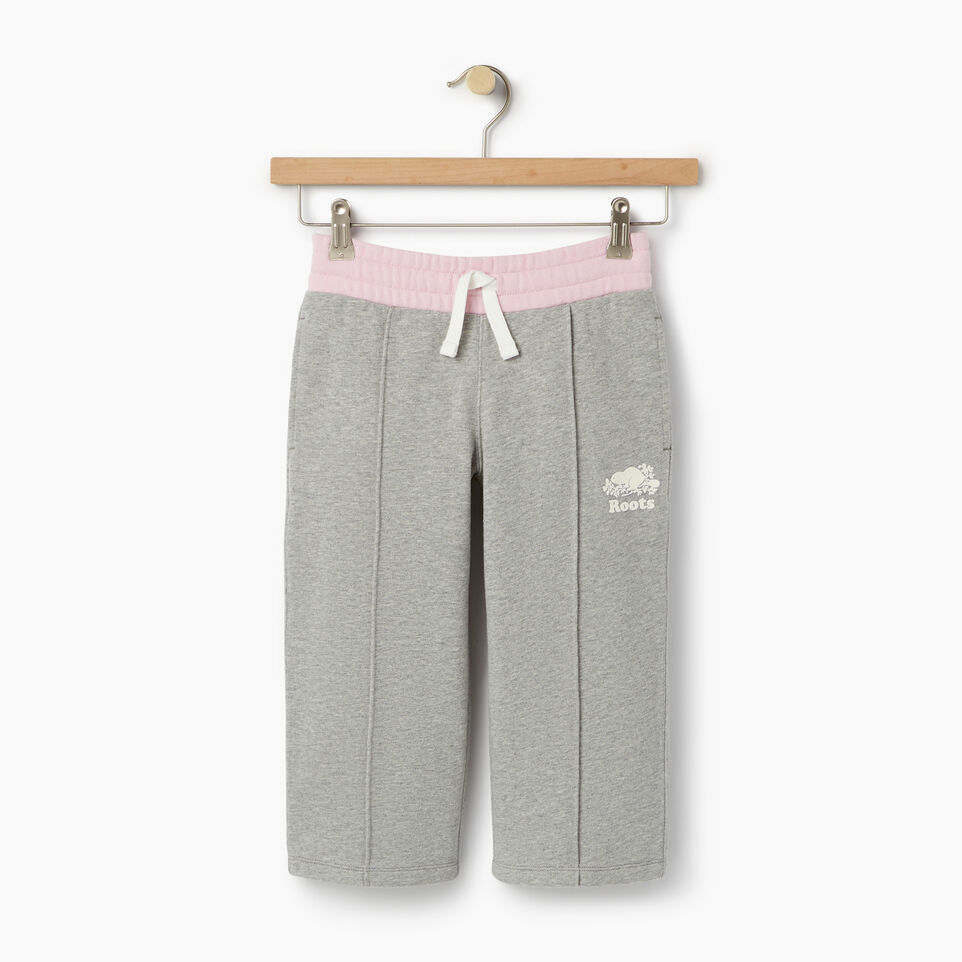 Roots-Clearance Kids-Girls Colour Block Sweatpant-Grey Mix-A