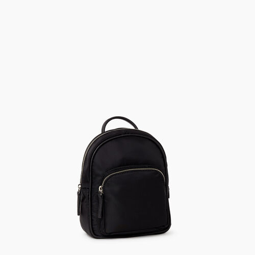 Roots-Women Backpacks-City Chelsea Pack Nylon-Black-A