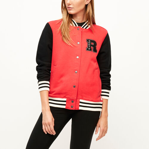 Roots-Winter Sale Women-Varsity Awards Jacket-Lollipop-A