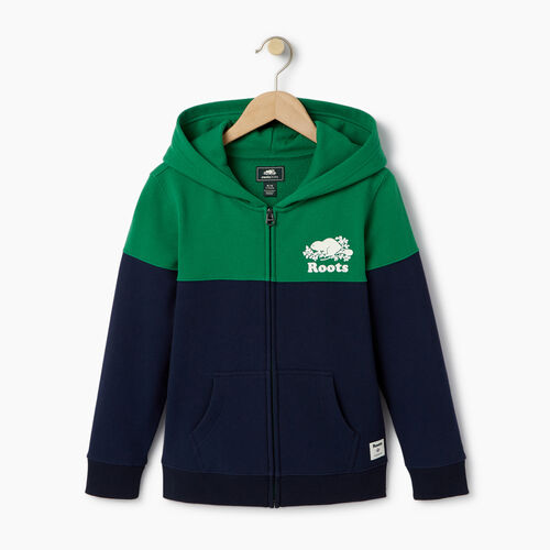Roots-Clearance Kids-Boys Colour Block Cooper Hoody-Navy Blazer-A