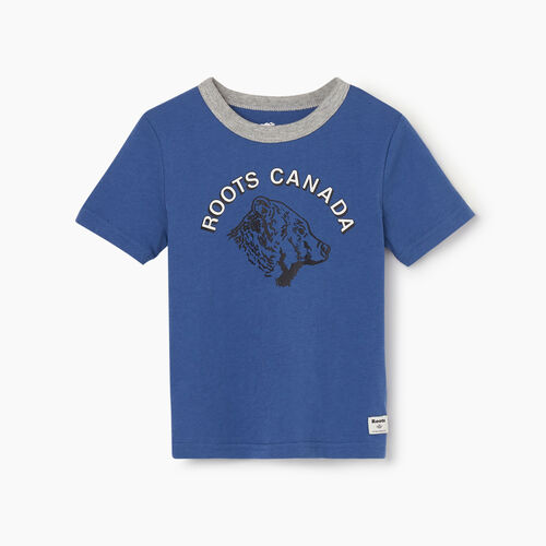 Roots-Kids Toddler Boys-Toddler Roots Grizzly T-shirt-True Navy-A