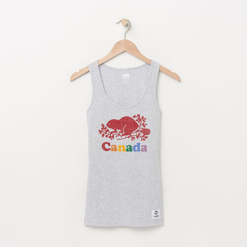 Roots-Women Tops-Womens Cooper Canada Rib Tank-Snowy Ice Mix-A