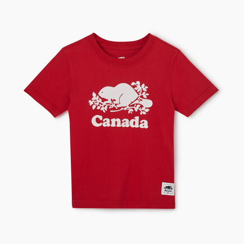 Roots-Kids New Arrivals-Toddler Canada T-shirt-Sage Red-A