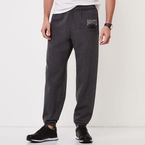 Roots-Men Original Sweatpants-Classic Relaxed Sweatpant-Charcoal Mix-A