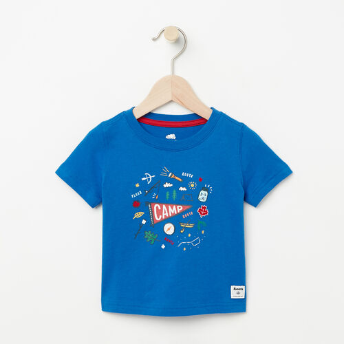 Roots-Kids Baby-Baby Camp Canada T-shirt-Olympus Blue-A