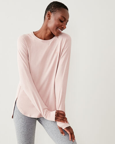 Roots-Women Long Sleeve Tops-Journey Long Sleeve Top-Pale Mauve Mix-A
