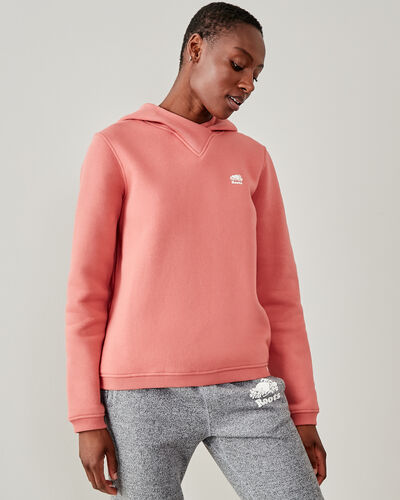 Roots-Women Tops-Spruce Kanga Hoody-Canyon Rose-A