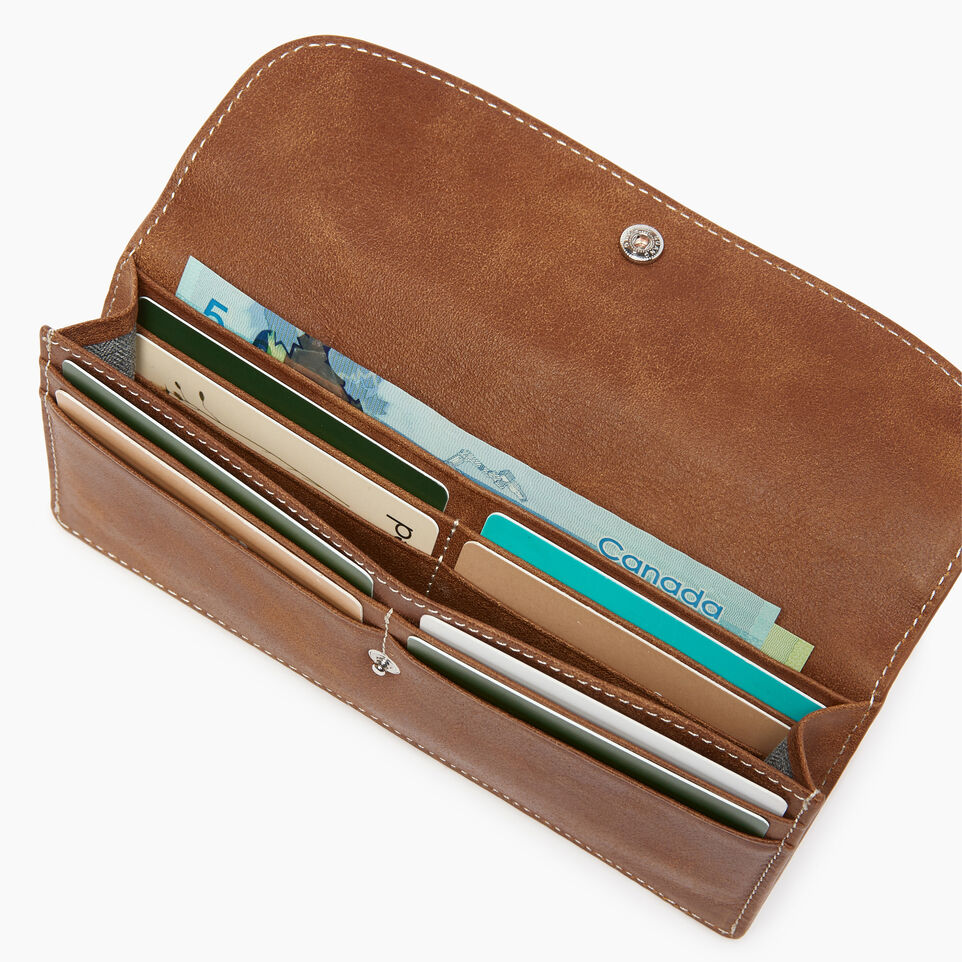 Roots-Women Clothing-Riverdale Slim Wallet-Natural-D