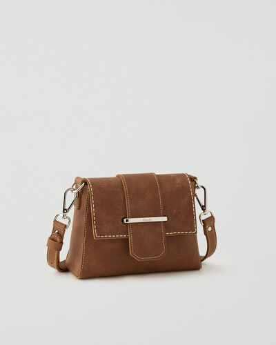 Roots-Leather Leather Bags-Mini Phoebe Bag Tribe-Natural-A