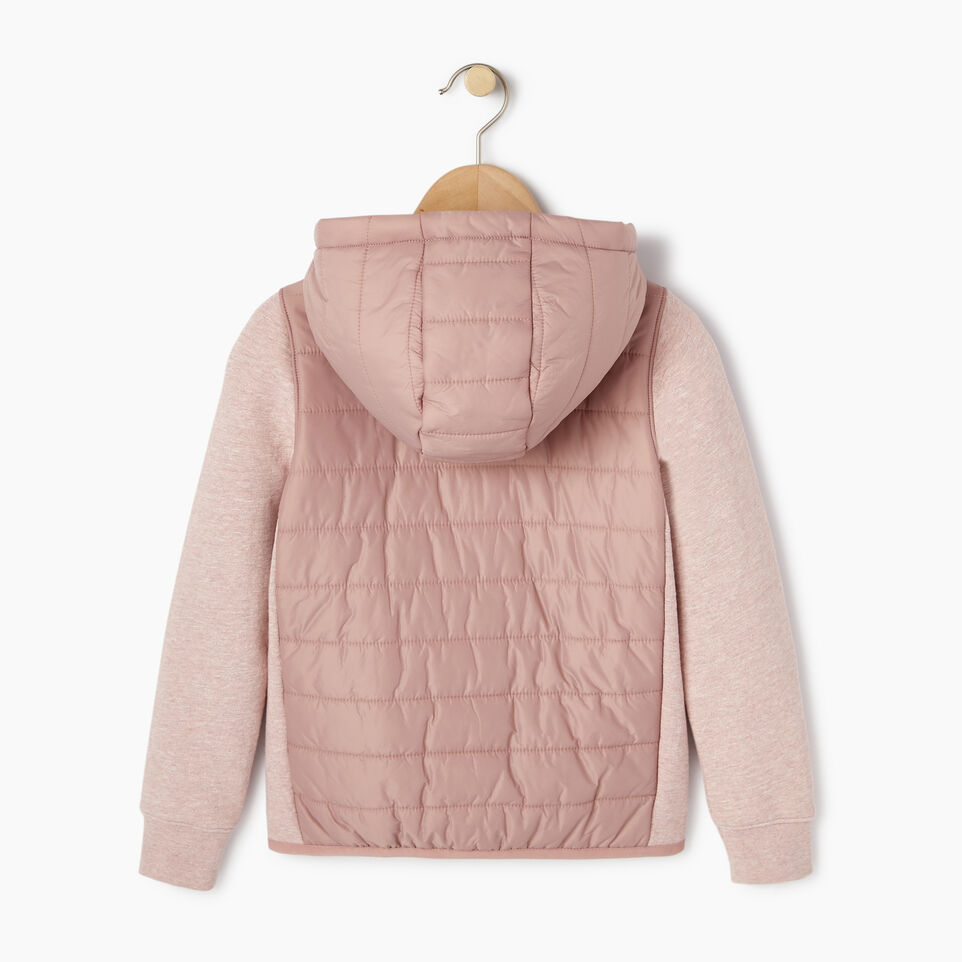 Roots-New For March Daily Offer-Girls Roots Hybrid Hoody Jacket-Woodrose-B