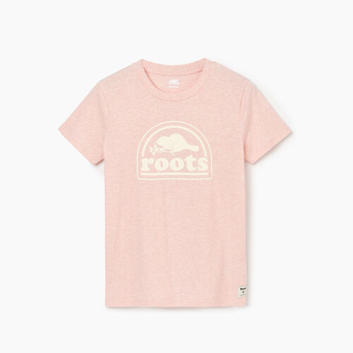 Roots-Clearance Tops-Womens Vault T-shirt-English Rose Mix-A