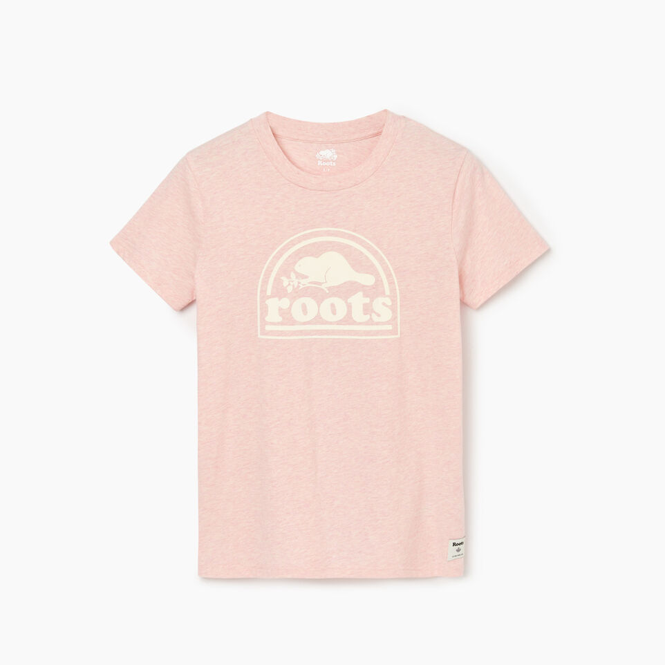 Roots-Women Our Favourite New Arrivals-Womens Vault T-shirt-English Rose Mix-A