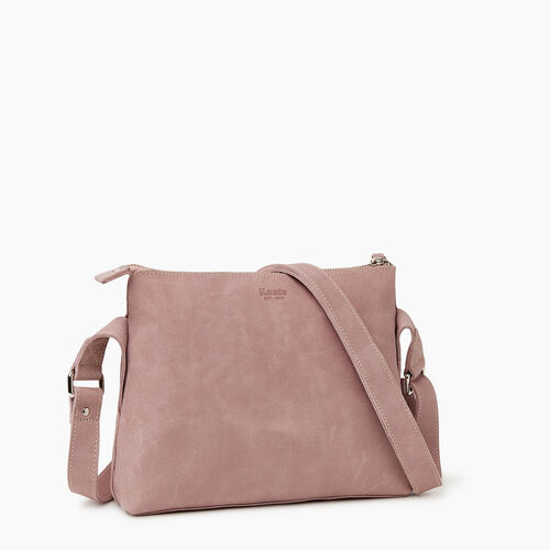 Roots-Leather Handbags-Journey Crossbody Tribe-Woodrose-A