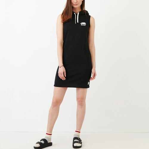 Roots-New For June Sweats-Sleeveless Kanga Dress-Black-A