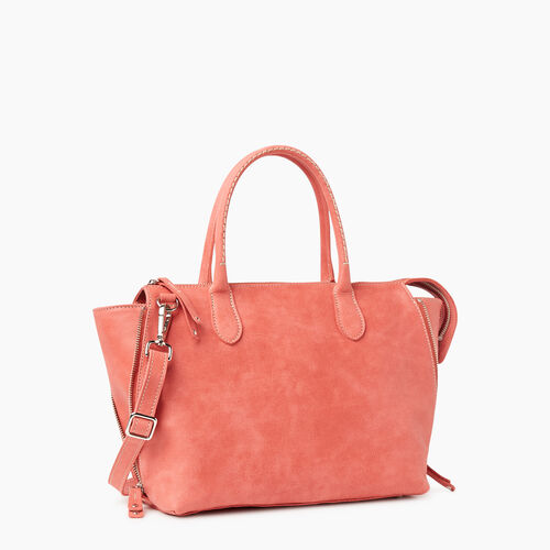 Roots-Leather Shoulder Bags-Arianna Bag Tribe-Coral-A