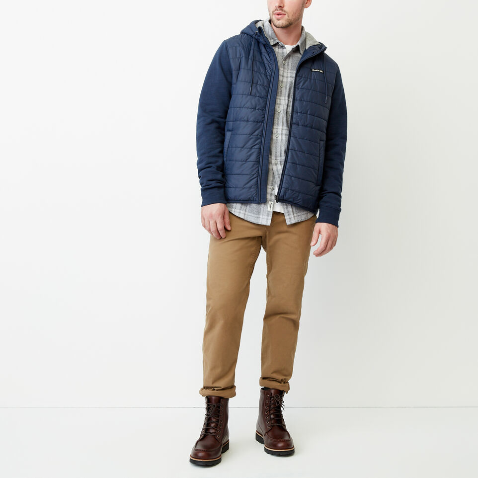 Roots-New For July Daily Offer-Roots Hybrid Hooded Jacket-Navy Blazer-B