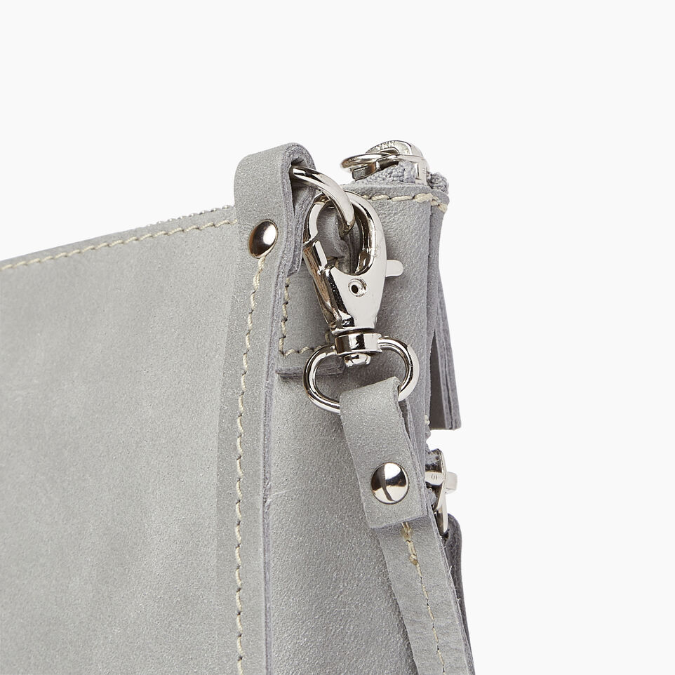 Roots-Leather  Handcrafted By Us Our Favourite New Arrivals-Double Zip Wristlet-Quartz-E