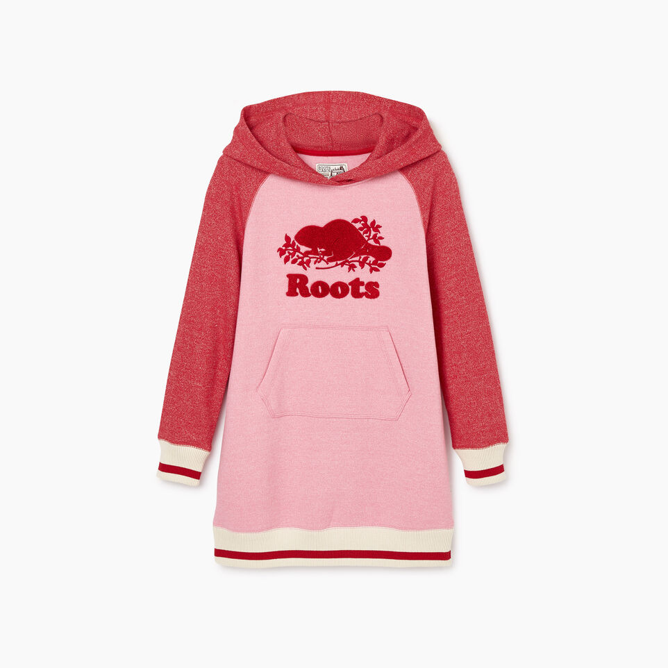 Roots-New For November Kids-Girls Roots Cabin Cozy Dress-Cashmere Rose Pepper-B