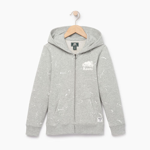 Roots-Clearance Kids-Boys Splatter Full Zip Hoody-Grey Mix-A