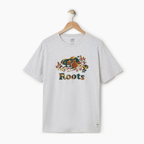Roots-Men Our Favourite New Arrivals-Mens Cooper Woodlands T-shirt-White Mix-A