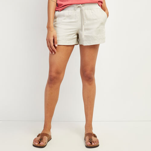Roots-Women Shorts & Skirts-Linen Essential Short-Moonstruck-A