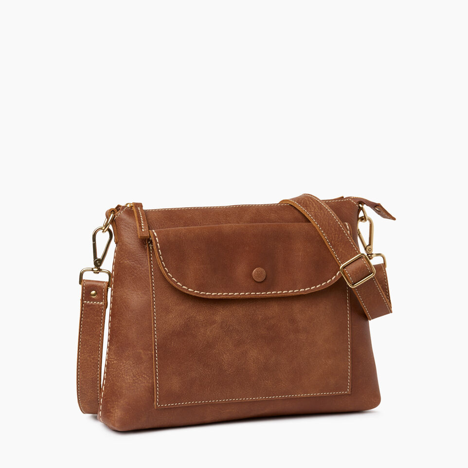 Roots-Leather  Handcrafted By Us Our Favourite New Arrivals-Richmond Crossbody-Natural-A